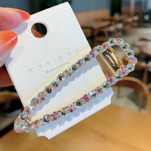 1PC Colorful Crystal Rhinestone Hair Clip Alligator Barrette Hairpin Hollow Gift