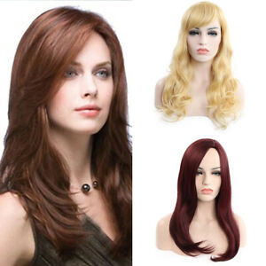 Fashion-Hair-Wig-With-Bangs-Thick-Long-Curly-Wavy-Full-Wig-Women-Natural-Wigs