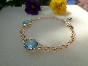 Goldenes-Armband-585-Goldfilled-mit-Blautopas-u-Chrysopras