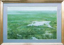 Louis busman 1944-2014: ancho pradera con paracaídas 1978, pinturas 44 x 62 cm