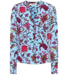ab0540a64c7f0 NWT Diane von Furstenberg Floral Silk Blouse Canton Notebook 10  268 ...