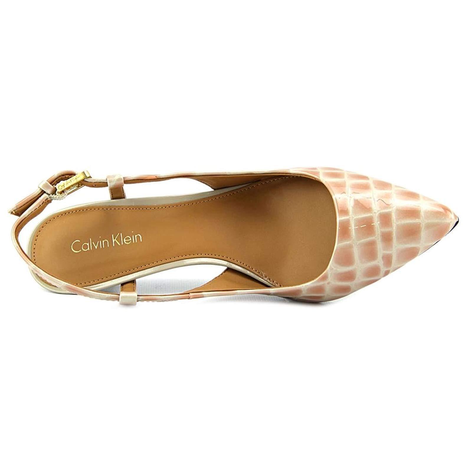 Calvin Klein Patsi Croco Patent Schuhes Clay Damens Pump Slingback Schuhes Patent 6d01aa