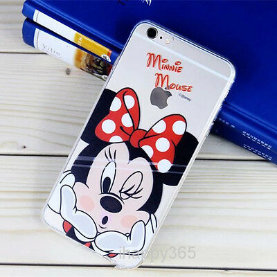 Ultra Thin Cartoon Transparent TPU Soft Case Cover Skin For iPhone 6 6S Plus
