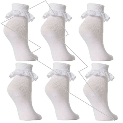 Girls Babies Kids Frilly Cute Lace Ankle Socks Summer Wedding Dance Brides Lot