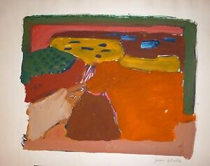 Juan-ALCALDE-ALONSO-gouache-sur-papier-signee-1970-abstract-art-abstrait