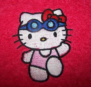 034-PERSONALIZED-EMBROIDERED-HELLO-KITTY-SWIMMING-BATH-TOWEL-034-100-COTTON