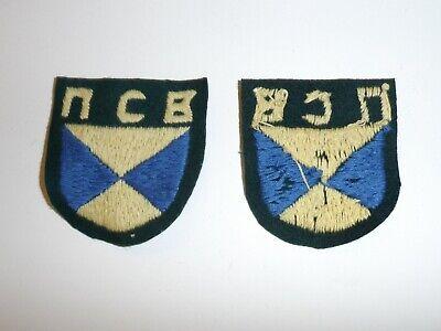 b4578 WW2 German Army Africa Corps Tropical Collar Litzen//Tabs R18D