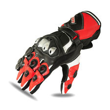 Racing Motorbike Gloves Biker Pro Motorcycle Red TPU Knuckle Kevlar 1684 XL