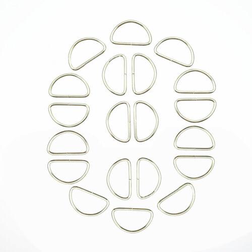 20pcs//Set Straps Bags Purses Strap Belting Metal Belts Buckle Loop Ring D Ring