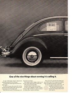 1964 VW Beetle Bug clay mold theme Original Car Advertisement Print Ad J137