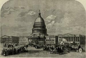 US-Washington-D-C-Capital-building-view-1859-Illustrated-London-News-print