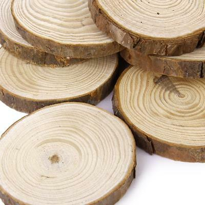 10pcs Pine Wood Slices Natural Tree Bark Decor Wedding Centerpieces 6-8cm