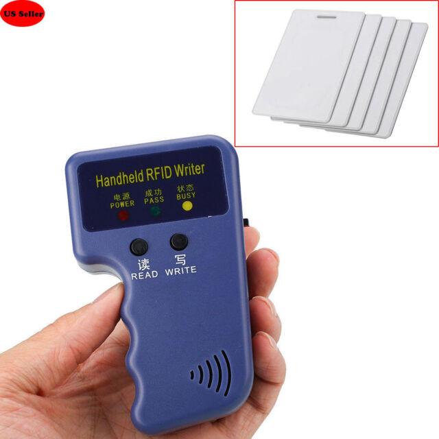 Portable Handheld RFID ID Card Copier/ Reader/Writer Duplicator 5 White  Cards