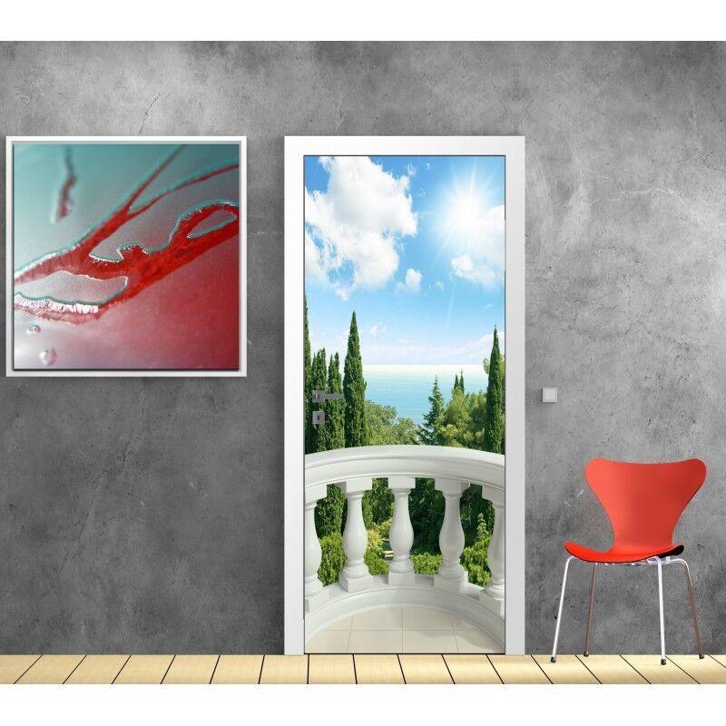 Aufkleber Tür Schein Auge Deko Balkon 622