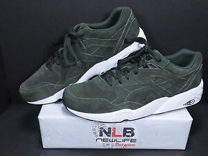 newest 03729 95e0b Vintage Puma R698 ALLOVER SUEDE Forest Night/White 359392-04 ...