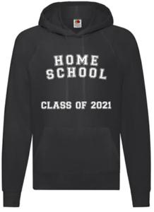 Black Home School 2021 Sweat à Capuche Enfants Adultes Unisexe Garçons Filles Pull Haut à Capuche