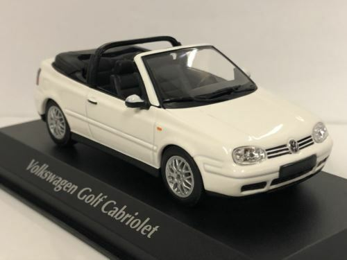 Maxichamps 940058330 1998 Volkswagen Golf 4 Cabriolet White 1:43 Scale