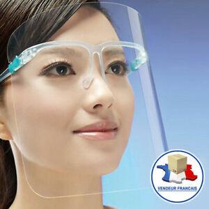 Visière masque transparent protection sur Lunettes masque écran protège visage