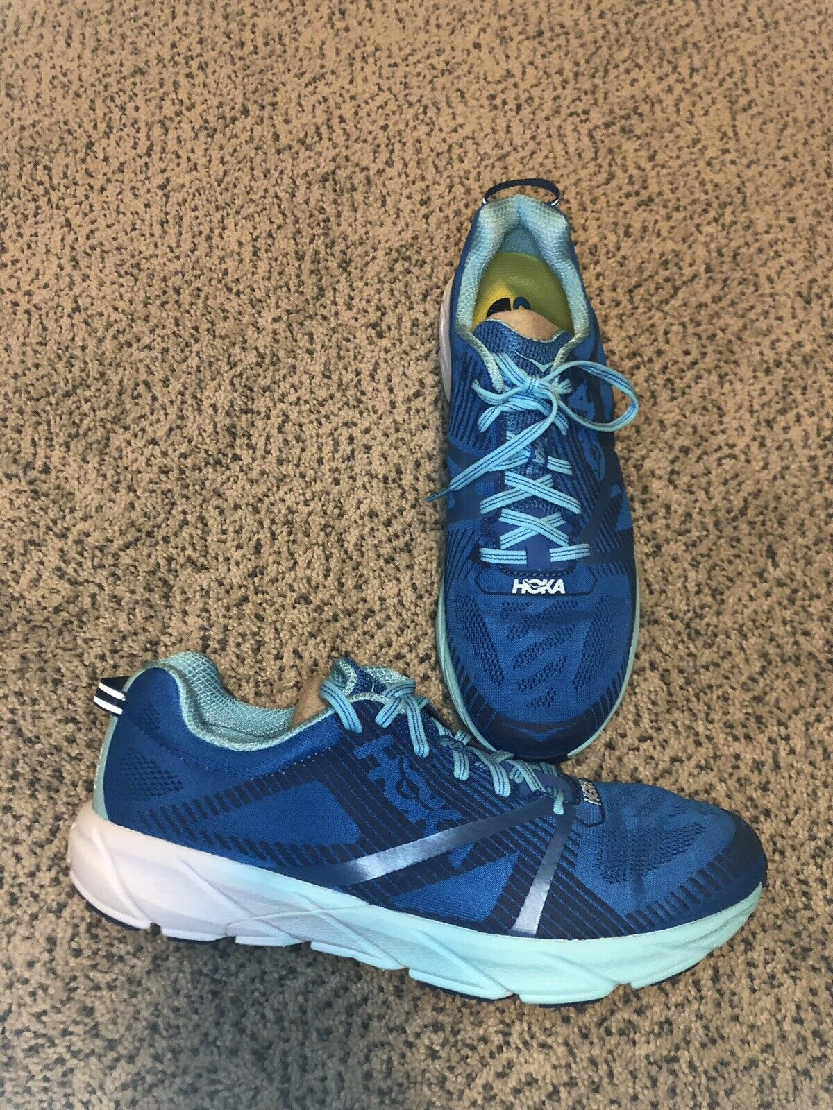 NEW MENS HOKA ONE ONE TRACER 2 RUNNING SHOES - 9 -  3 - blueE - AUTHENTIC