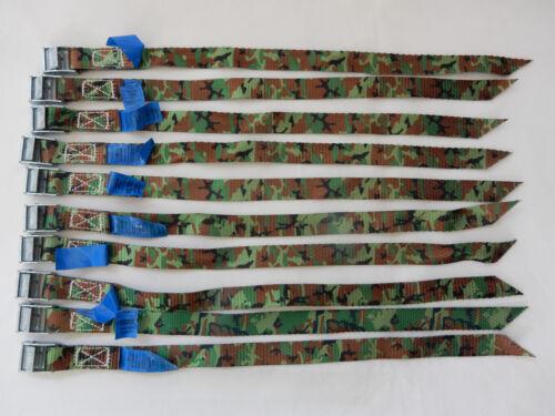 10x kleiner Zurrgurt Gurt m Klemmschloß Klemmschloss Camouflage 40cm 20mm