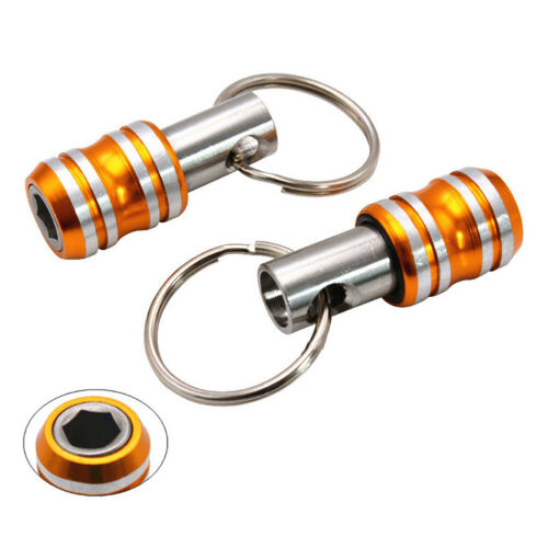 Portable en Acier Inoxydable Magnétique 1//4 Tournevis Porte-embout douille Tige porte-clés