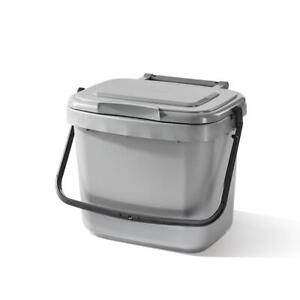 Cuisine 5 L Nourriture Recyclage Poubelle Compost Caddy Silver