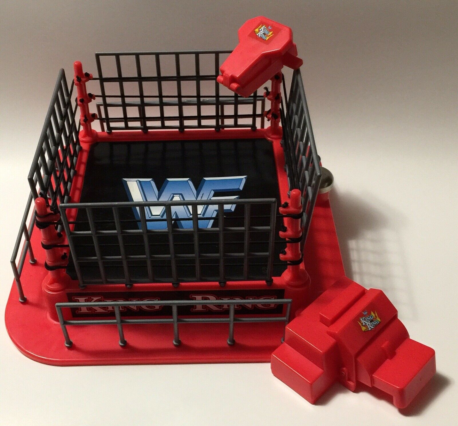 WWF Mini King of the Ring Ring Ring Wrestling Ring for Mini Figures Jakks WWE dc5c17