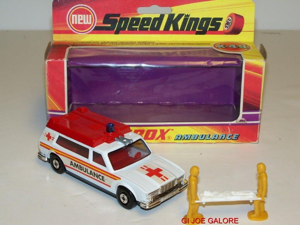 Matchbox Speed Kings Ambulancia K-49 (Mib) Moc 100% Completo