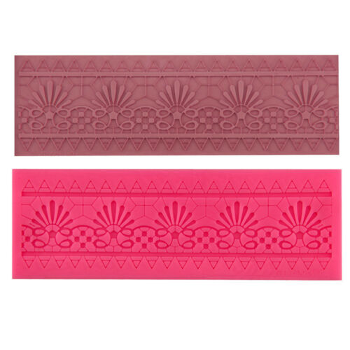 Lace Flower Design Silicone Mould Cake Border Decor Tool Gumpaste Fondant Molds