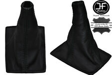 BLACK STITCHING REAL LEATHER GEAR GAITER FITS TOYOTA CELICA 1994-1998