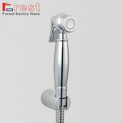 Luxury New Chrome Brass Handheld Diaper Bidet Sprayer Shower Shattaf Douche Kit
