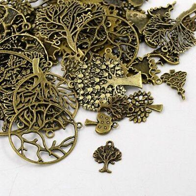 Antique Bronze HEART 30g x Tibetan Silver Mixed Beads Charms Pendants