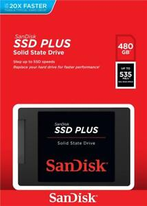 HARD DISK STATO SOLIDO SSD SANDISK PLUS 480GB SATA SDSSDA-480G-G26