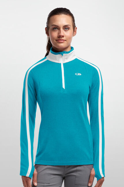 Icebreaker  Chateau Long Sleeve Half-Zip Woman - Stylish Function Clothing  brand outlet