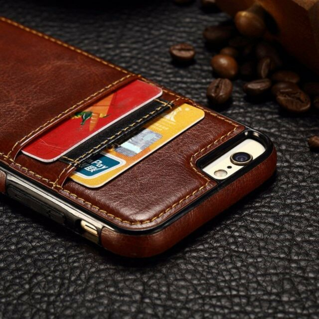 Compact Slim Leather Back Slots Card Wallet Case for  iPhone 7 6 6s 7 Plus