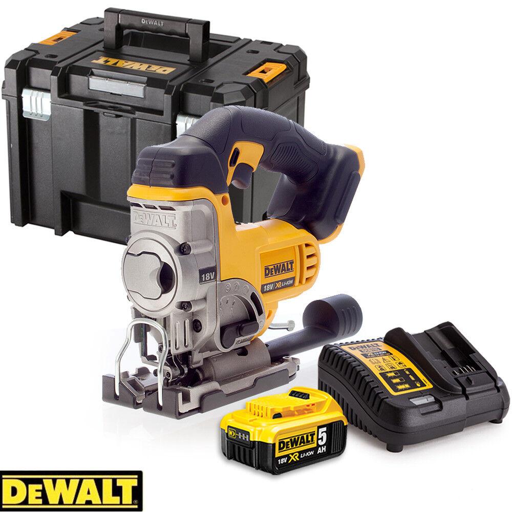 Dewalt DCS331N 18V XR Li-Ion Jigsaw With 1 x 5.0Ah Battery, Charger & Case