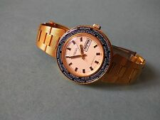 """RAKETA """"WORLD TIME"""" gold plated USSR (Serviced/Oiled)"""