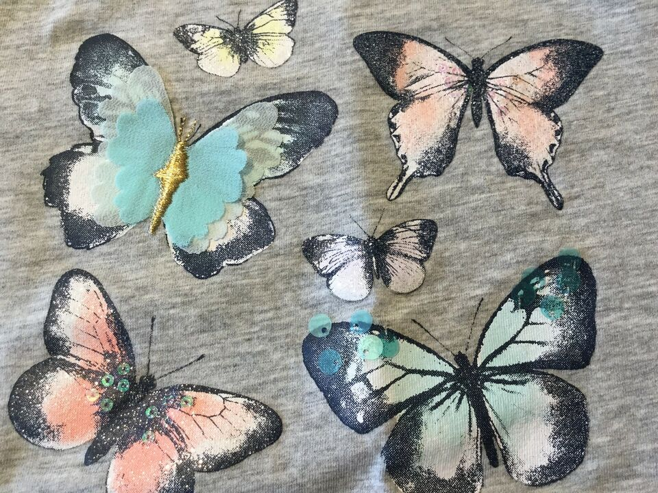 Bluse, T-shirt. Brugt hhv 1 og 5-6 gange., H&M. Str 122/128