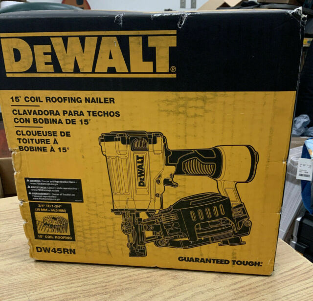 New Dewalt 15 Deg 1 3 4 In Pneumatic Coil Roofing Nailer