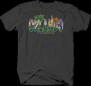Orlando-Florida-Palm-Tree-Dolphin-Castle-Flowers-Sunshine-Beach-T-shirt-for-men