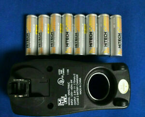 8-of-Hitech-AA-size-2500mAh-Rechargeable-batteries-PLUG-IN-AA-Charger-UL-30-OFF