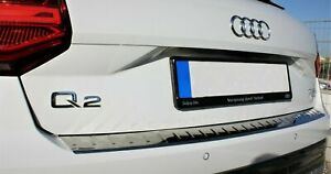 2016Onwards-AUDI-Q2-Chrome-Rear-Bumper-Protector-Scratch-Guard-S-Steel