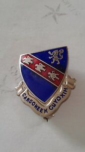 Authentic-US-Army-147th-Infantry-Regiment-Unit-DI-DUI-Crest-Insignia-IE