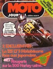 MOTO JOURNAL  205 YAMAHA 125 RDX MOTOBECANE LT SUZUKI GT HONDA JX Bultaco 360