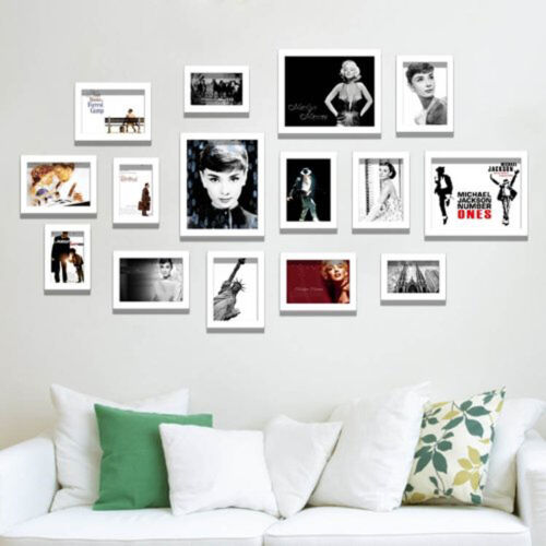 Bilderrahmen XXL Bildergalerie Galerie Fotorahmen Fotoalbum weiß