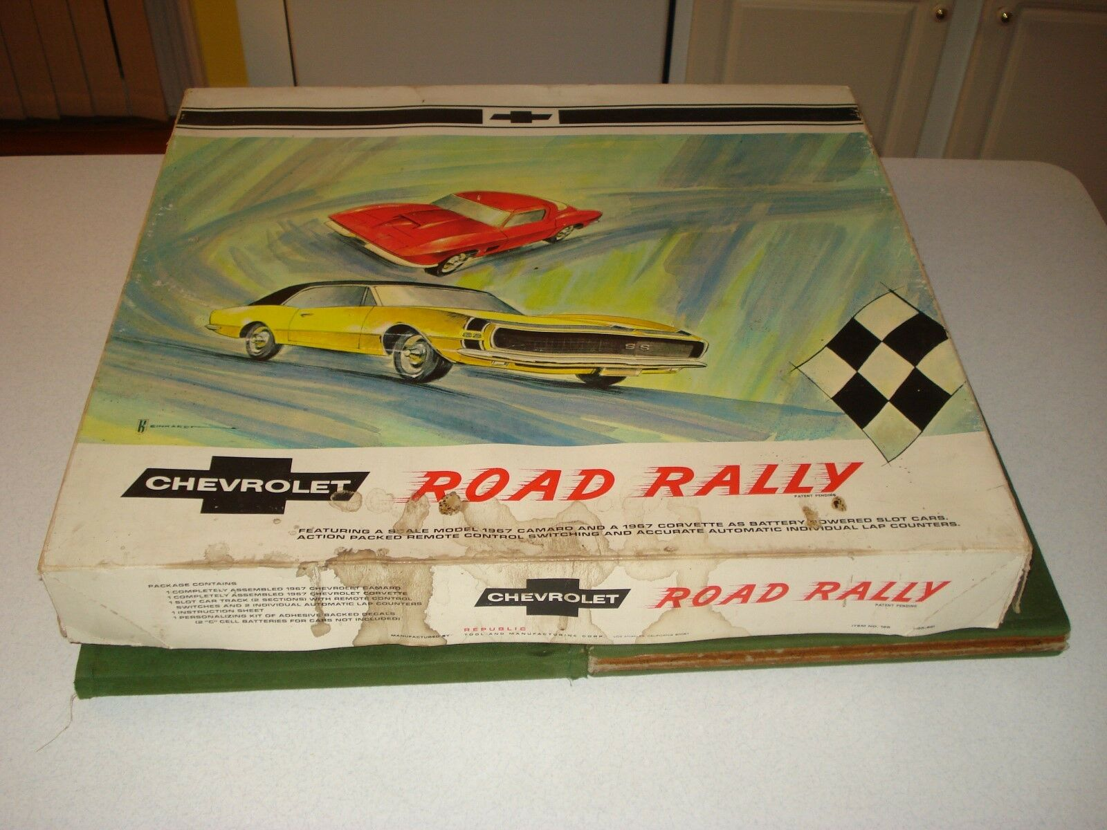 1966 CHEVROLET Road Rally Set Avec Boîte Et Instructions, pas de voitures, République