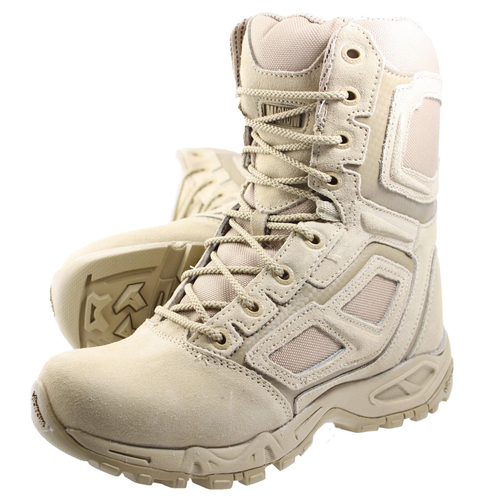 HiTec Magnum Elite Spider 8.0 Desert Tan Hiking Boots Beige Sand hi-tec