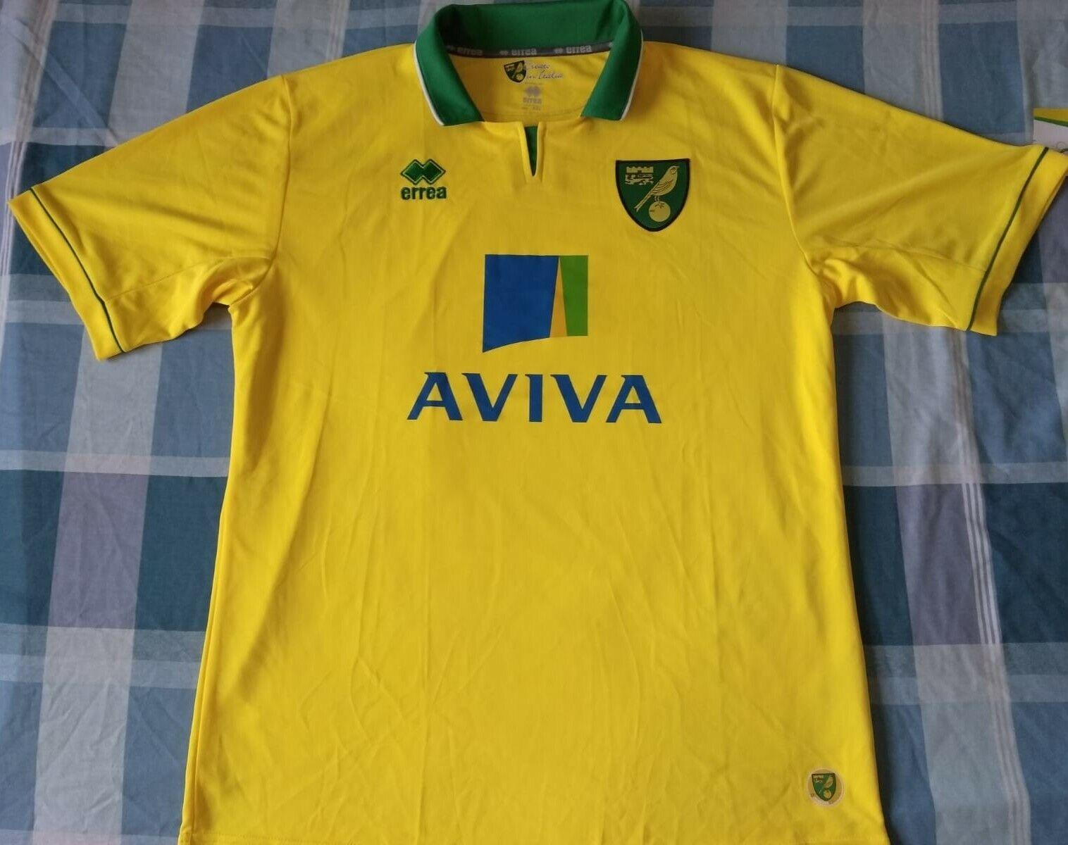 Shirt Camiseta Maillot NORWICH città Errea Season 2012 Diuominiione XXL nuovo