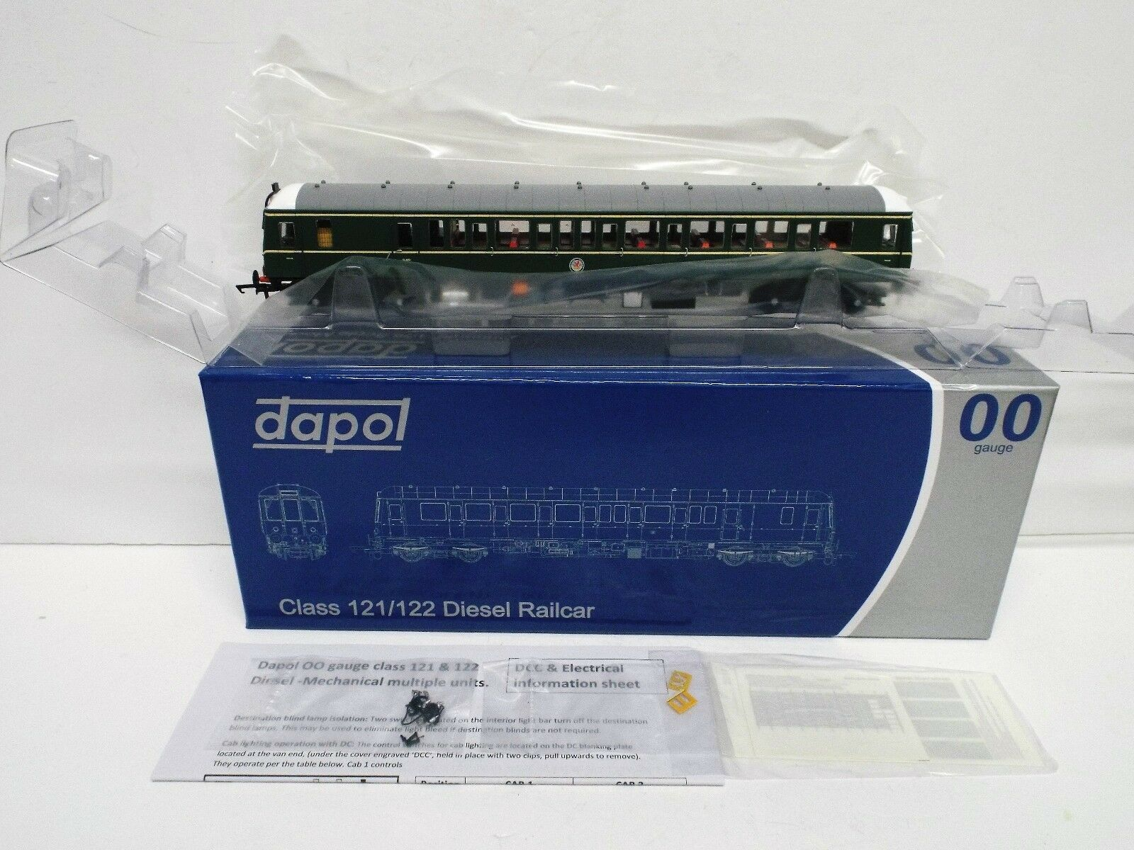 DAPOL 4D-015-005 CLASS 122 BUBBLE CAR SC55007 BR GREEN SYP NEW MIB (OO574)