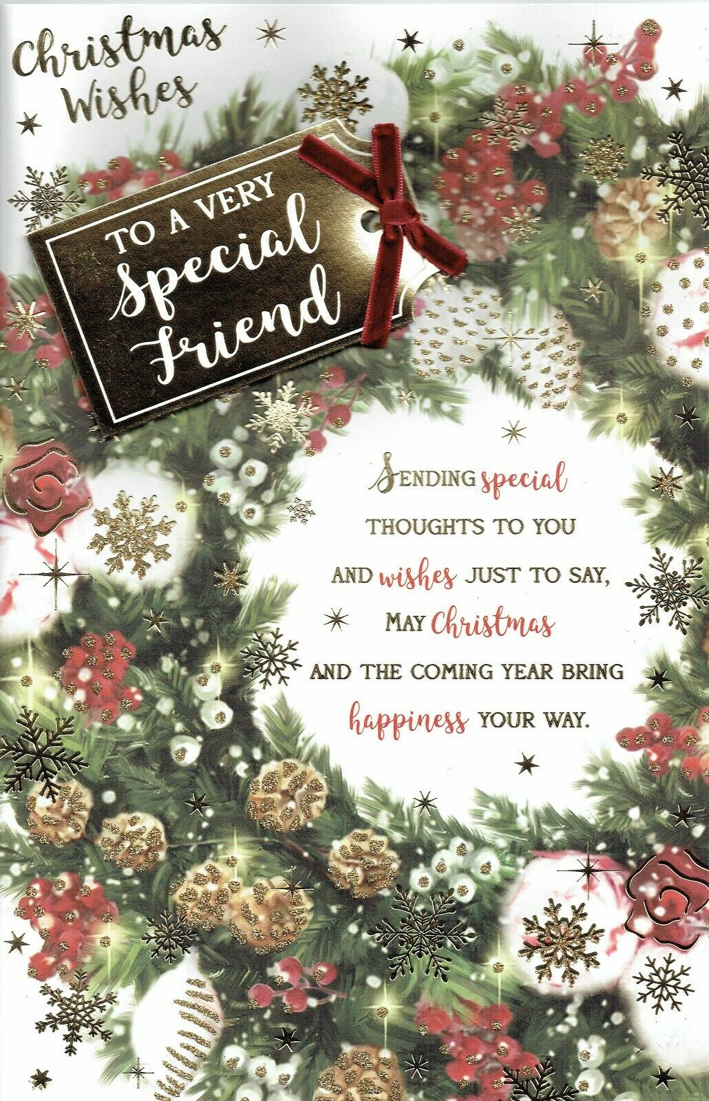 To A Wonderful Mum Tree Gifts /& Holly Design Christmas Card Lovely Verse